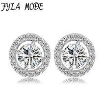 Fyla Mode Classic 925 Silver Hearts & Arrows cut 0.75 carat AAA+ Cubic Zirconia Stud Earring Wedding Earrings for Women //Price: $US $11.99 & FREE Shipping //     #hashtag1