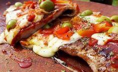 matambre-a-la-pizza Meatloaf, Deli, Vegetable Pizza, Carne, Chicken, Vegetables, Recipes, Food, Koh Tao
