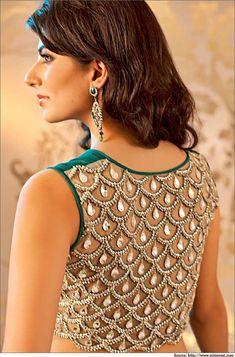 Top 5 Designer Latest Saree Blouse Back Neck Designs   Blouse Designs