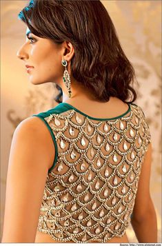 Top 5 Designer Latest Saree Blouse Back Neck Designs | Blouse Designs