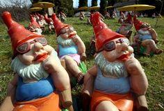 Sunbathing Gnomes