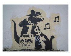 Art.fr - Reproduction d'art 'Ghetto Blaster Rat' par Banksy