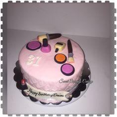 Make up cake #girlycake #makeupcake