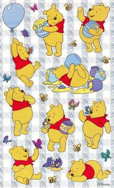 Sandylion Disney Winnie The Pooh Honey Pots Bumble Bees Winnie The Pooh Tattoos, Winnie The Pooh Quotes, Winnie The Pooh Friends, Disney Winnie The Pooh, Winnie The Pooh Pictures, Winnie The Pooh Honey, Winne The Pooh, Cute Disney Wallpaper, Cute Cartoon Wallpapers