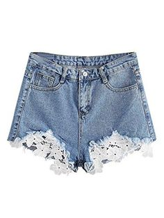 Jean Shorts, Denim Jeans, College Wardrobe, Cut Off Jeans, Blue Lace, High Waist Jeans, Style Me, Casual, How To Wear