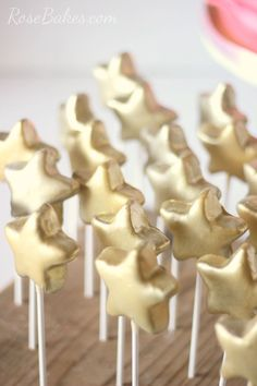 Gold Star Cake Pops