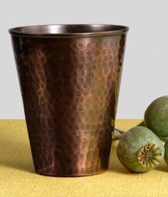 Textured Brass Cups