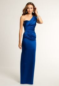 Camille La Vie One Shoulder Dress with Beaded Applique