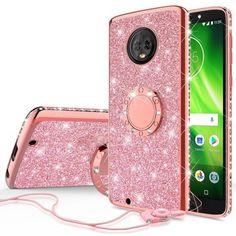 f29ac9e0ba8f SOGA Diamond Bling Glitter Cute Phone Case with Kickstand Compatible for Motorola  Moto E5 Plus Case
