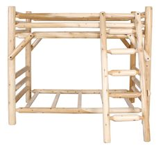 in by Best Craft Furniture in Plymouth, WI - Twin Bunk Bed. Lodge Furniture, Bedroom Furniture, Wood Crafts, Fun Crafts, Twin Bunk Beds, Logs, Mattress, Diy Projects, Home Decor