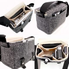 A tweedy camera bag by Stash. They also have iPad cases. #preppy