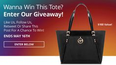 The more you connect with us the more chances you have to win this one-of-a-kind tote! Please Click Here: http://woobox.com/dmaxza/irlx12  Good Luck and Thank You!