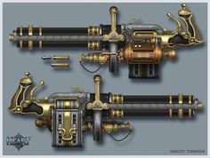MINIGUN by TsimmerS steampunk weapon gun equipment gear magic item | Create your own roleplaying game material w/ RPG Bard: www.rpgbard.com | Writing inspiration for Dungeons and Dragons DND D&D Pathfinder PFRPG Warhammer 40k Star Wars Shadowrun Call of Cthulhu Lord of the Rings LoTR + d20 fantasy science fiction scifi horror design | Not Trusty Sword art: click artwork for source