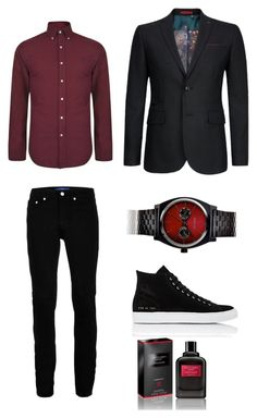 """""""man seducer"""" by maeca-burusa on Polyvore featuring Polo Ralph Lauren, Ted Baker, Topman, Common Projects, Nixon, Givenchy, men's fashion y menswear"""