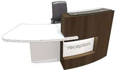 Curved Office Reception Desk - Xpression
