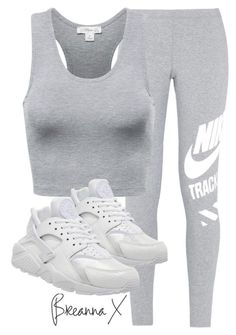 """Untitled #2889"" by breannamules ❤ liked on Polyvore featuring NIKE, women's clothing, women's fashion, women, female, woman, misses and juniors"