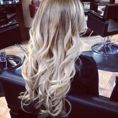 extensions and blonde ombre