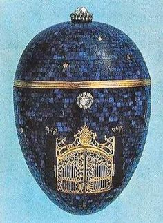 """Ovo """"Crepúsculo"""", 1917 (provável criação Fabergé)"""