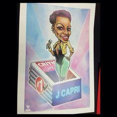 J Capri mostrado su regalo de CARICATURA realisado por Jorge Tristán #ArtePanameño #PTY @jcapri_hcr Instagram photos | Websta (Webstagram)
