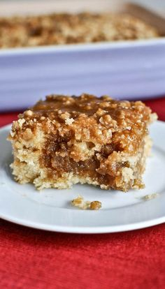 Your guests will love waking up to this eggnog breakfast crumble crunch cake during the holidays.