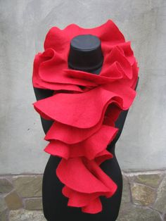 Handmade wool felted rose...perfect addition to my Winter scarves.