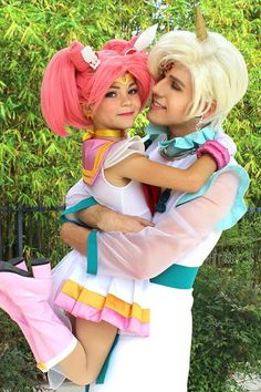 Sailor Mini Moon and Helios Sailor Moon Cosplays