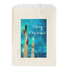Christmas angel mother and angel child favor bag