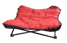 When the weather is great, it's a terrific time to go camping and a good time to bring your dog along. But dogs need certain items besides the absolute essentials of food, water, and a leash when they go camping. Here are six camping items for dogs Camping Bedarf, Camping Items, Camping Supplies, Camping Chairs, Camping Survival, Camping With Kids, Outdoor Camping, Camping Essentials, Camping Products