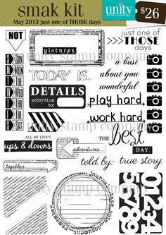 Unity Stamp Co. - SMAK Kit - May 2013 - {Just One of THOSE Days} http://www.unitystampco.com