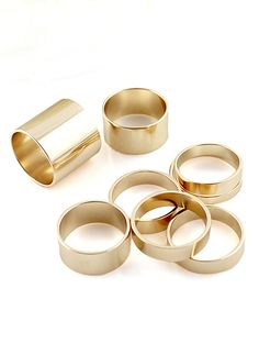 matte gold ring set