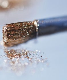 """ a brush- so clogged with glitter nothing but a sparkling future could get through """