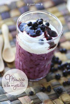 Mousse à la myrtille sauvage - Wild blueberry mousse