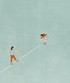 Made by: Alessandro Gottardo  - (Tightrope walker)