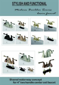 Shared waterway concept for two handle center set faucet Lavatory Faucet, Shoe Rack, Handle, Concept, Shoe Racks, Door Knob