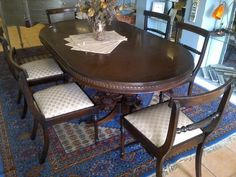 Regency reproduction good quality drop leaf table with set of 8 chairs for sale | Diep River | Gumtree South Africa | 149757736