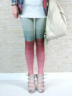 Wow! funny pattern color pantyhose!
