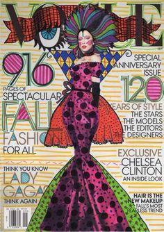 Lady Gaga, Ana Strumpf re-done magazine covers #Vogue