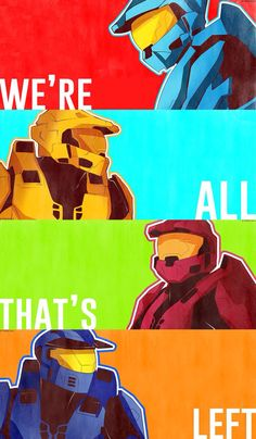Red vs Blue Season 12 Tucker, Grif, Simmons, and Caboose
