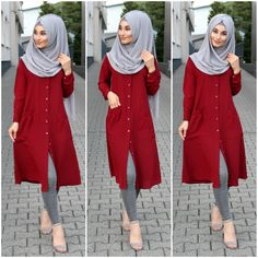 New fashion hijab outfits casual muslim. Source by amqidwi outfits hijab Modern Hijab Fashion, Muslim Women Fashion, Hijab Fashion Inspiration, Mode Inspiration, Modest Fashion, Stylish Hijab, Stylish Dresses, Hijab Chic, Casual Dresses