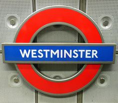 Westminster Tube Station Sign by ccr_358, via Flickr