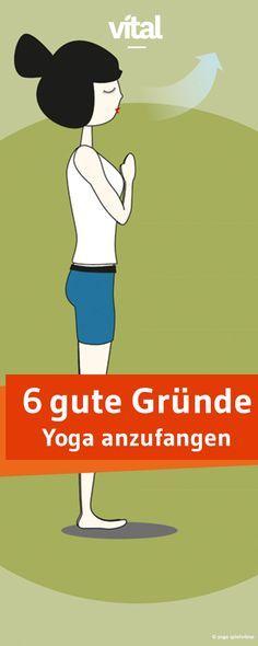 Ob Nacken-Kissen, Yoga-Anzug oder -Übungen - wir zeigen Ihnen sechs gute Gründe mit Yoga zu starten.