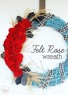 Felt Rose Wreath