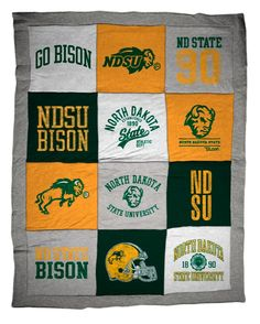 NDSU Sweatshirt Quilt Blanket ...good idea but think ours would be worn and faded.