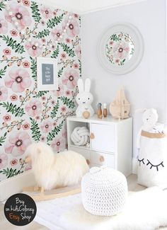 girly rooms floral mural lovely flowers murals nurseries reusable decal nursery