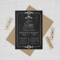 elegant vintage wedding save the date card Save The Date Wording, Save The Date Invitations, Wedding Invitation Cards, Save The Date Cards, Wedding Stationery, Wedding Cards, Invite, Wedding Day, Traditional Wedding Invitations