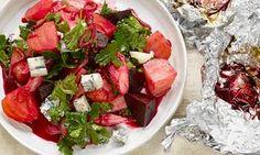 Beetroot and rhubarb salad