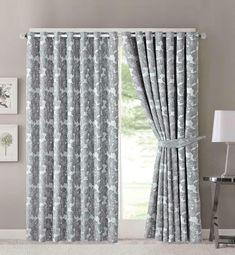 Závěsy Zarina 228 x 228 cm šedé - kovová oka Curtains, Design, Home Decor, Blinds, Decoration Home, Room Decor, Draping, Home Interior Design