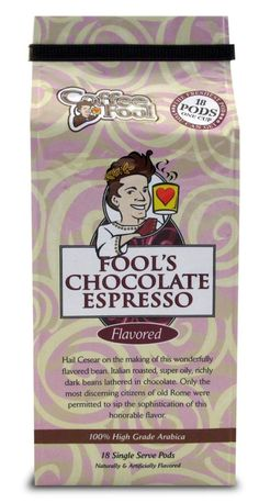 Coffee Fool's Chocolate Espresso Pods - 18 Single Serve - Dark Roast * Quickly view this special product, click the image : Fresh Groceries