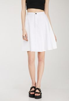 A-Line Denim Skirt - Skirts - 2000116318 - Forever 21 UK