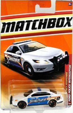 2011 Matchbox Emergency Response Ford Police Interceptor White/Blue #49 of 100 by Mattel. $4.00